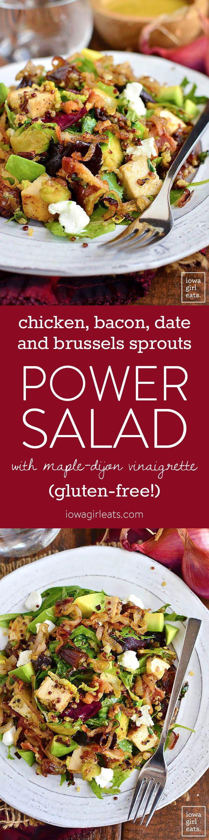 Quinoa Power Salad Iowa Girl Eats Recipe Power Salad Brussel Sprouts Recipes