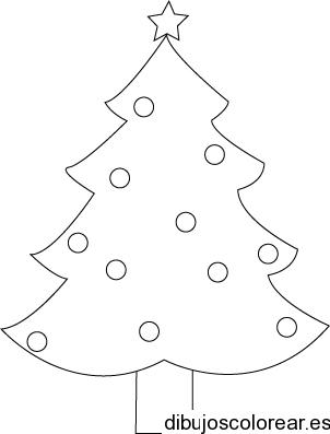 Dibujo De Un Arbol Navideno Con Estrella Arbol De Navidad Para Colorear Imagenes De Arbol De Navidad Arbol Navideno Para Colorear