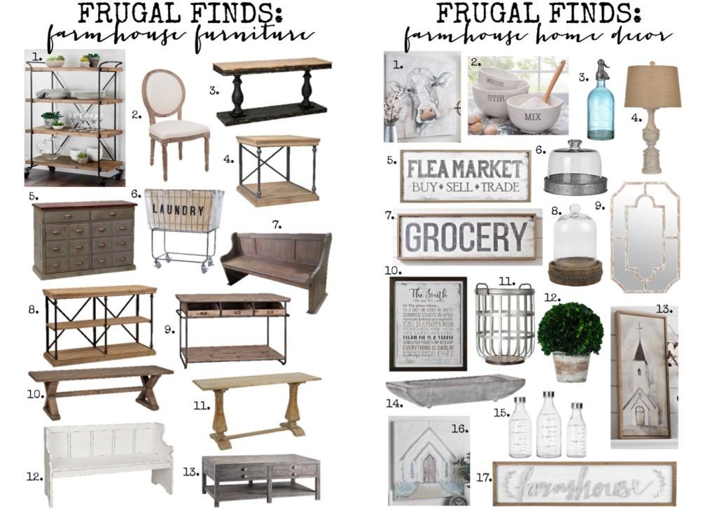 Frugal Finds Farmhouse Furniture & Home Decor in 2019