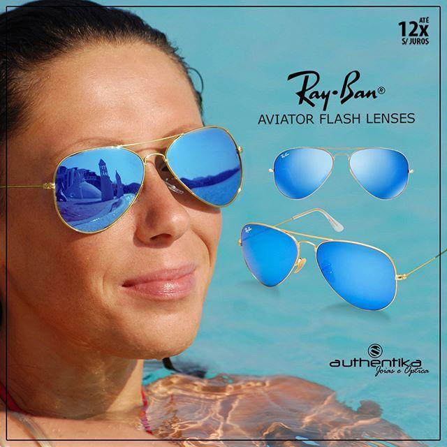 ray ban espelhado lente azul