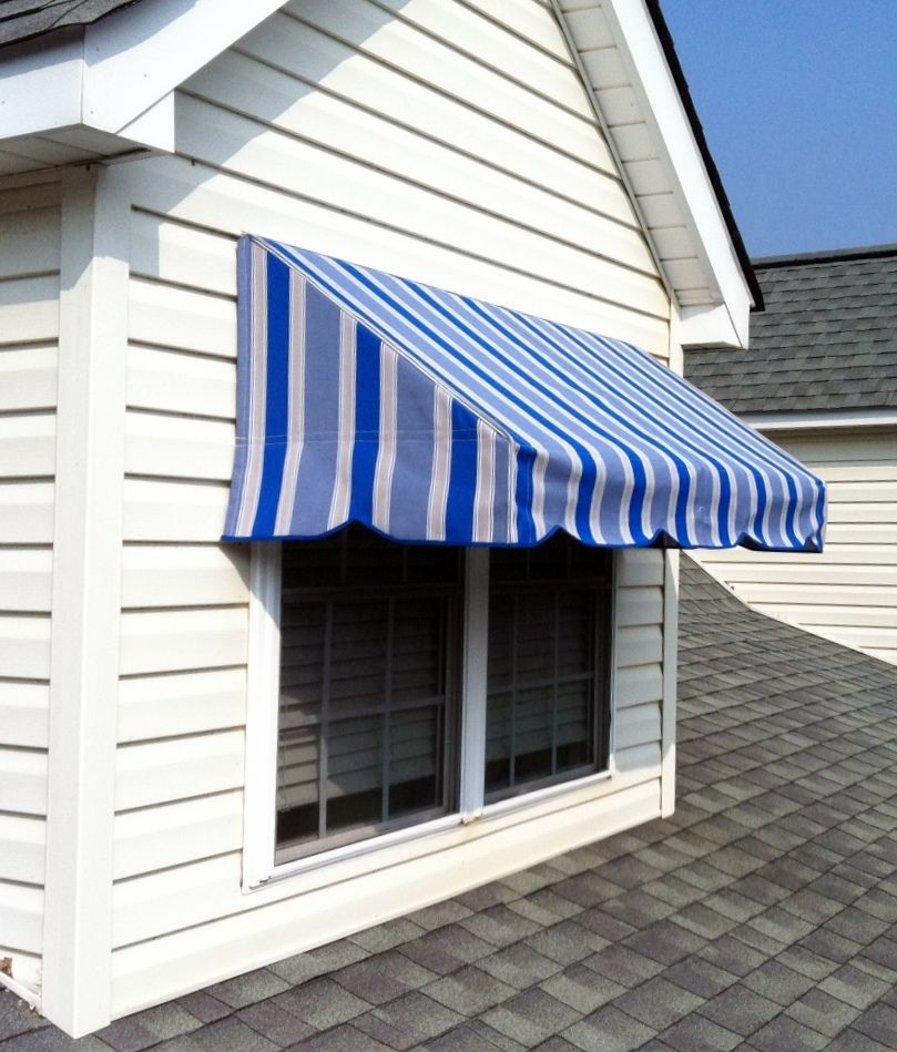 Awnings Black Long Canvas Window Awnings With Mirror Windows And Brick Design Ideas Also Classic Wooden Chairs In Outdoo Wood Wall Design House Awnings Brick Design
