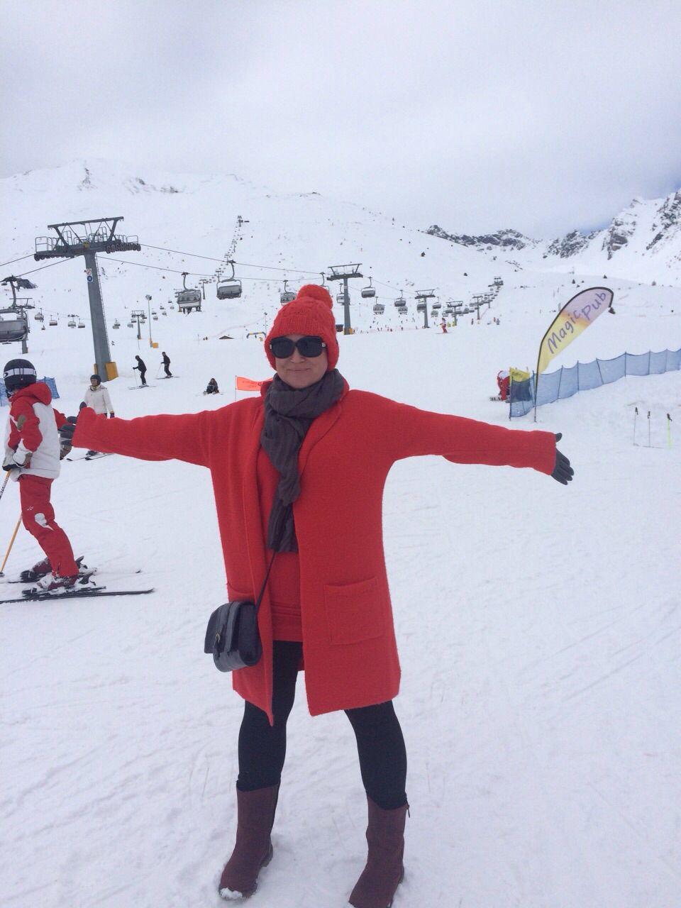 Après ski orange hat