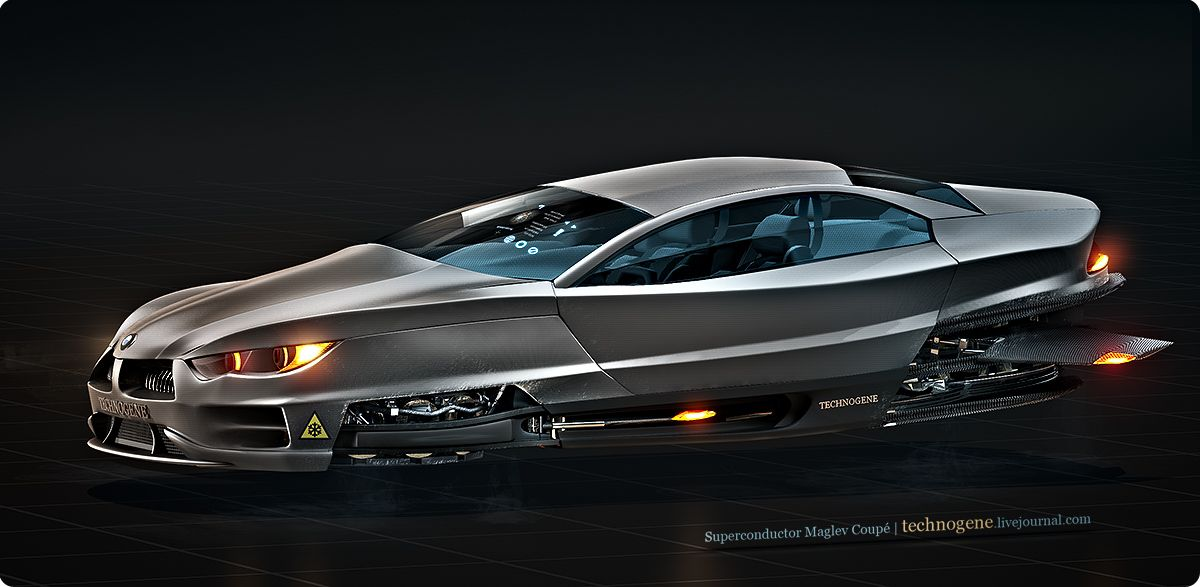 Superconductor Maglev Coupe By Technogene Flying Cars