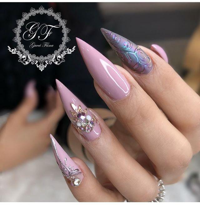 My Nails By Fiina Nail Lounge Glonjf Stiletto Nails Nail Art