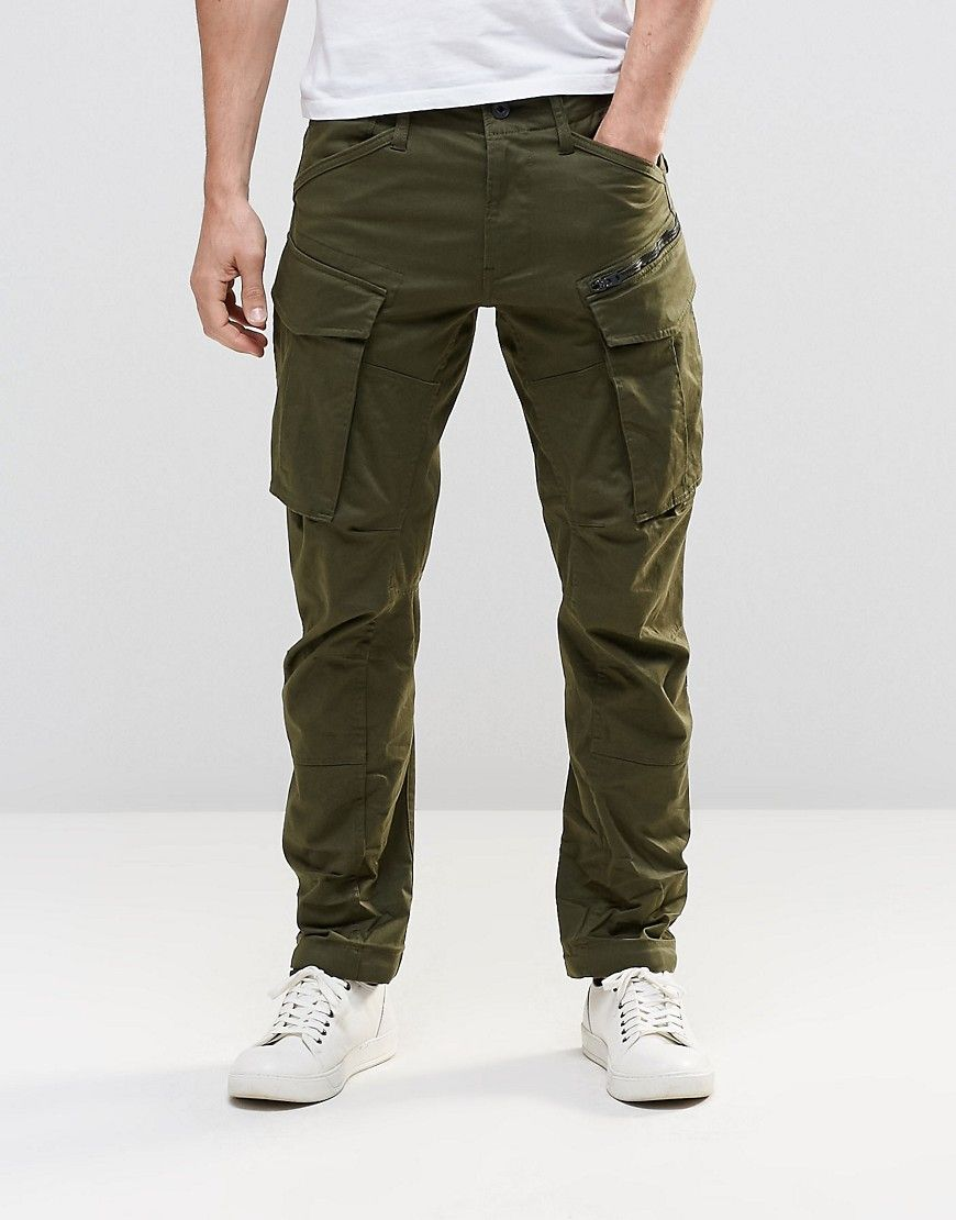 Tall Rovic Zip Cargo Pants 3d Tapered Green | Cargo pants