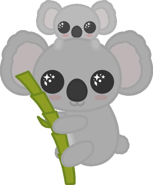 Cute Baby Koala Sleepy Portrait, Adorable, Animal, Art PNG ... |Cute Baby Koala Leg Drawing