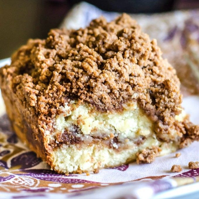This cinnamon coffee cake recipe is moist, buttery, and ...