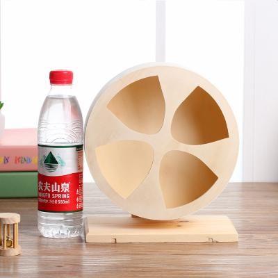 Wooden mute roller hamster wheel totoro hedgehog Syrian