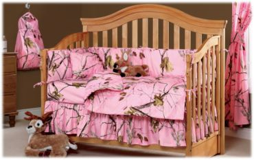 Bass Pro Shops® Realtree® All Purpose Pink Camouflage Crib Collection   Bass Pro Shops