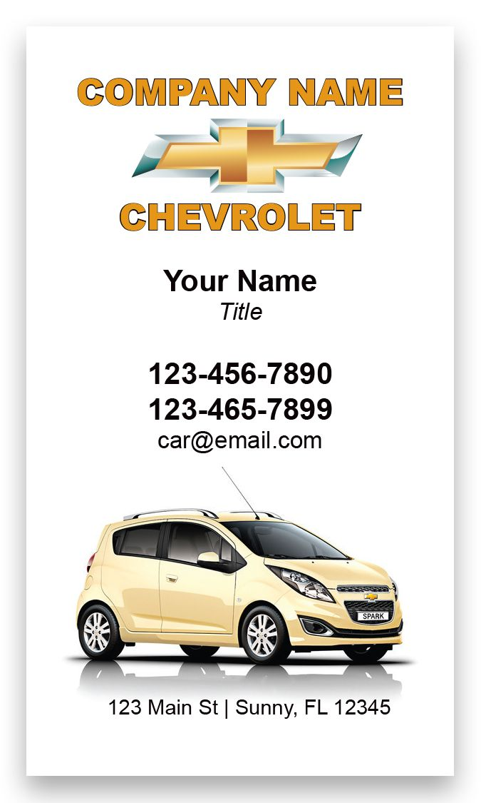 Chevrolet Automotive Business Card | Chevrolet, Business cards and ...