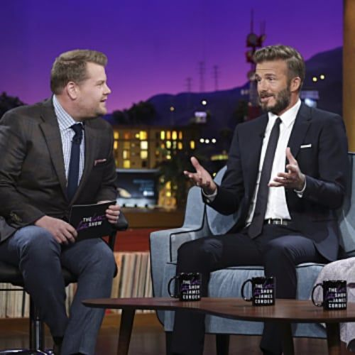 """Pin for Later: David Beckham on Son Brooklyn's First Date: """"I Sat Five Tables Back"""""""