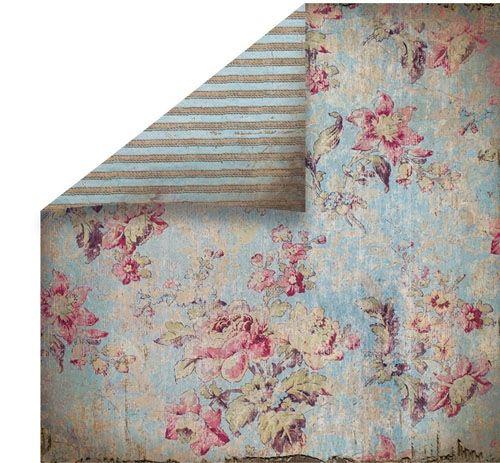 Nydelig designark i stødig kartong til kort og esker. Fargene er duse og vakre. passer godt til gråblå skrift kartong.