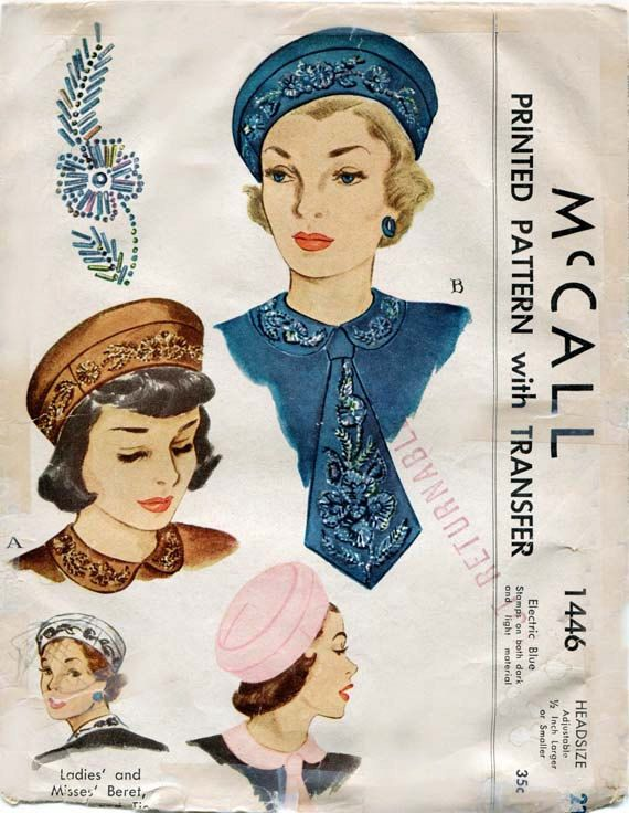 1446 McCall | Vintage hat illustration | Pinterest | Sewing patterns ...