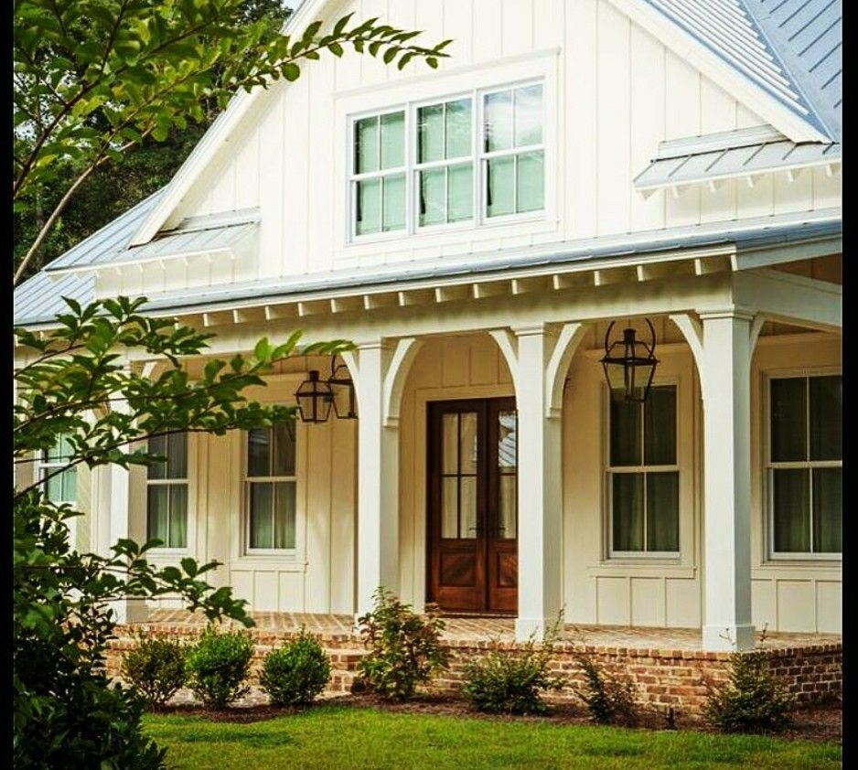 Country Porch Column With Corbels Brick Foundation With Vertical