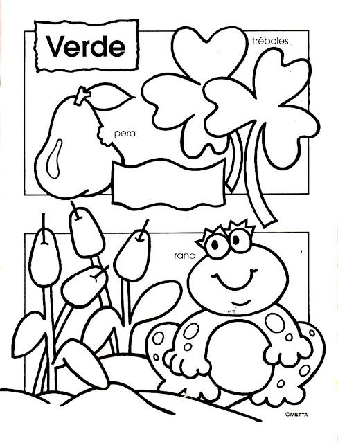 Colores 010 Jpg 488 640 Píxeles Preschool Colors Preschool Spanish Spanish Colors