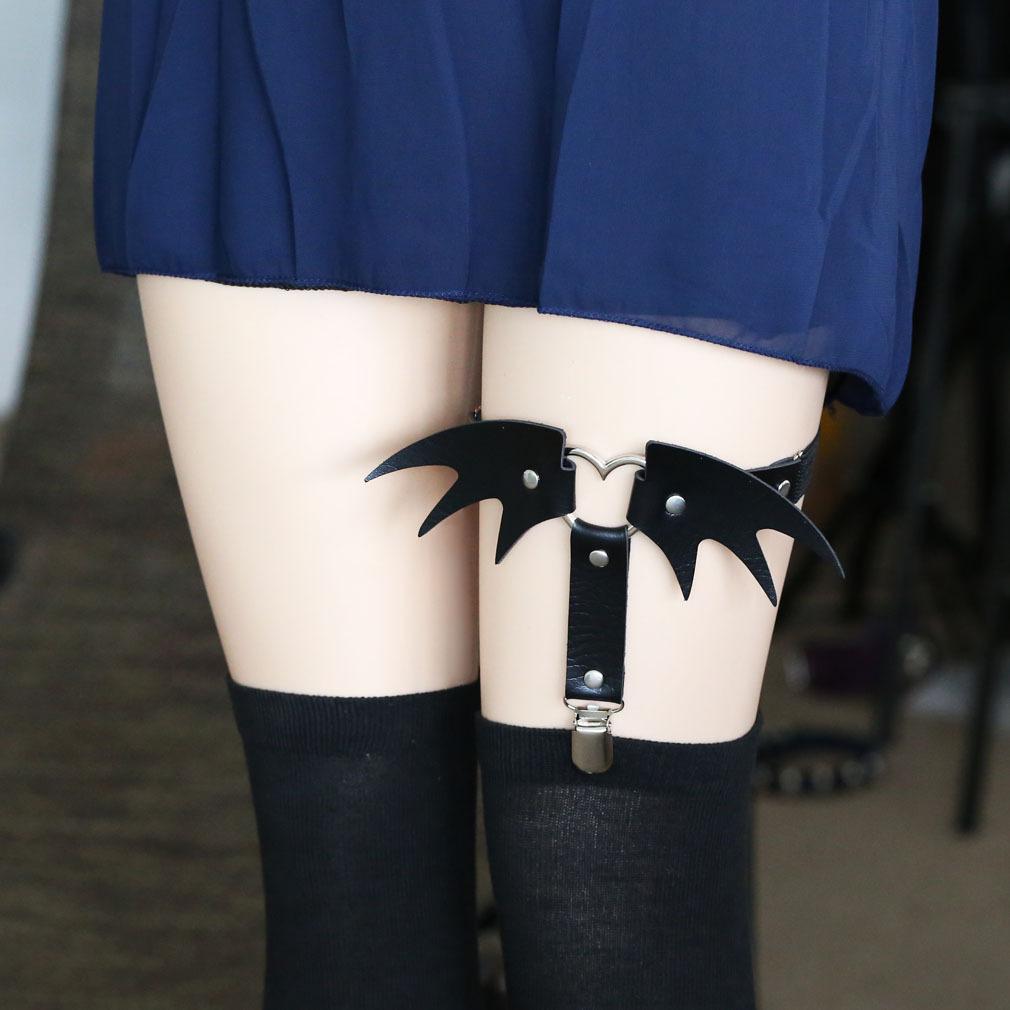 054679e3a Japanese Harajuku Leg Bat Heart Lace Garter SD01296 - SÍNDROME - Cute  Kawaii Harajuku Street Fashion Store