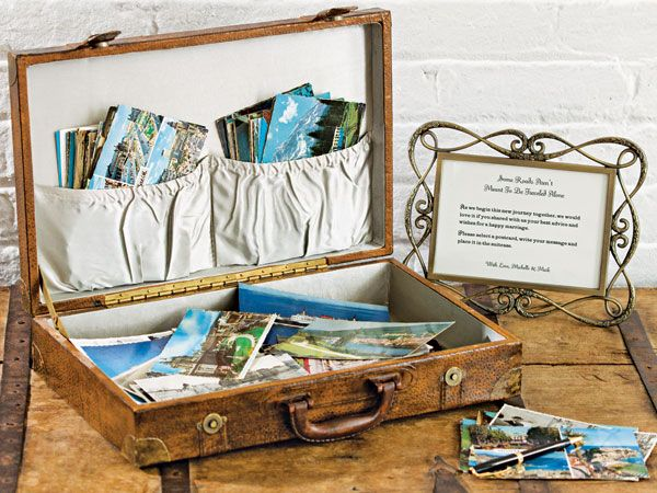DIY Vintage Luggage Guest Book | Vintage luggage, Wedding and Messages