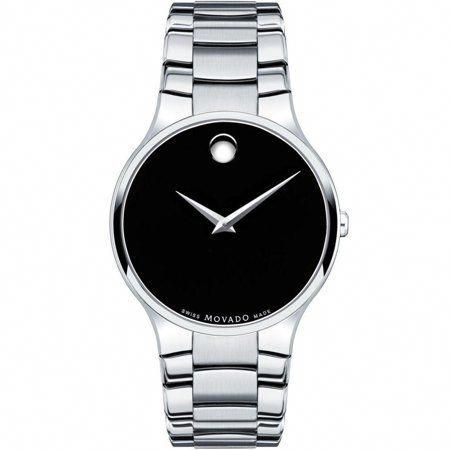 220bd5442b56 Movado Serio Black Dial Stainless Steel Men s Watch 0606382  MensWatches