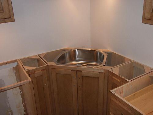 Corner Sink And Pull Out Trash Corner Sink Kitchen Corner Sink Kitchen Corner