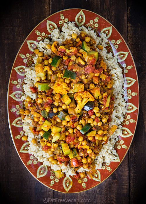 Cumin Infused Vegetables And Chickpeas Over Quinoa