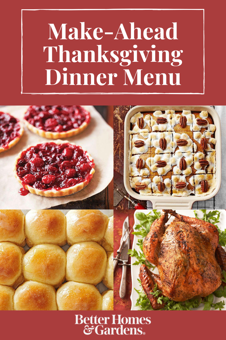 Have a StressFree Thanksgiving with This MakeAhead Menu