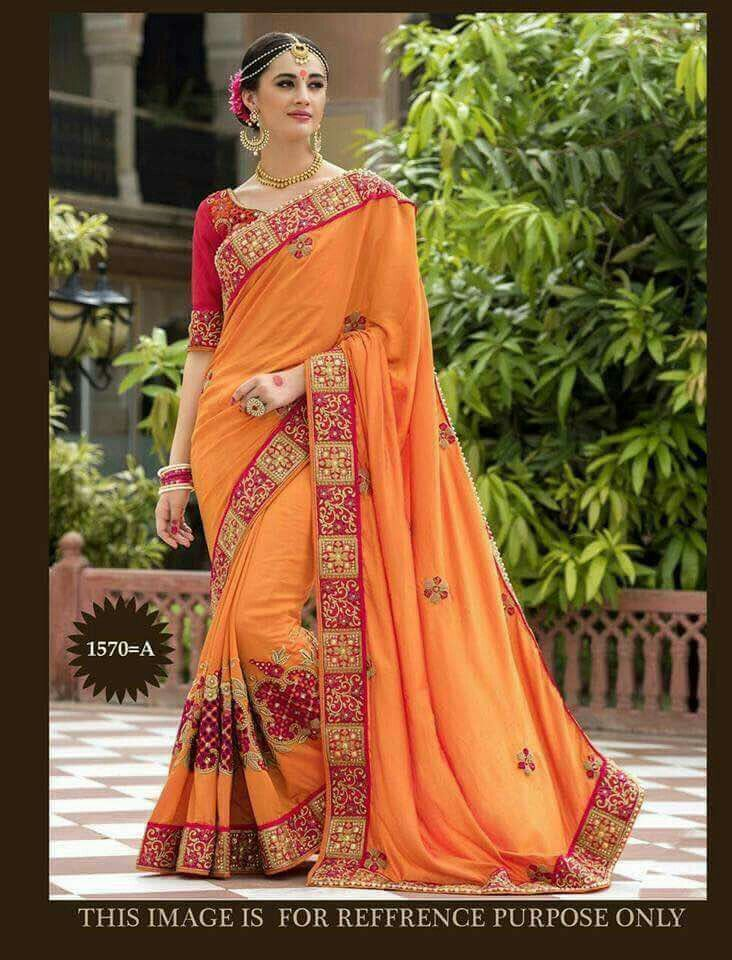 337d6bf5c77ff6 Dn 324 Fabric Paper silk Emorodairy work Blouse Banglori silk Rate 1800₹ -  Ready to ship Reseller welcome Call or whtsapp us on +919898221286 Singel  ...