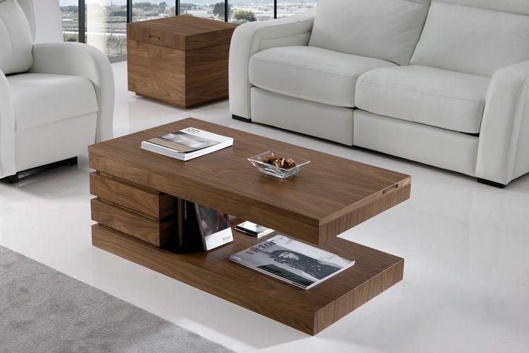 Mesa de centro elevable nogal mesas bajas de sal n arc n for Mesa esquinera comedor