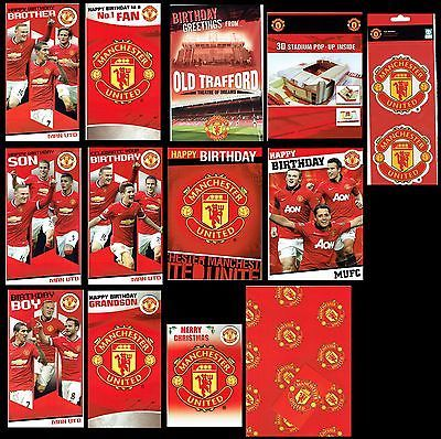 Official Manchester United Football Club Birthday Or Christmas Card Mufc Cards Stationery Cel Manchester United Cards Manchester United Football Club