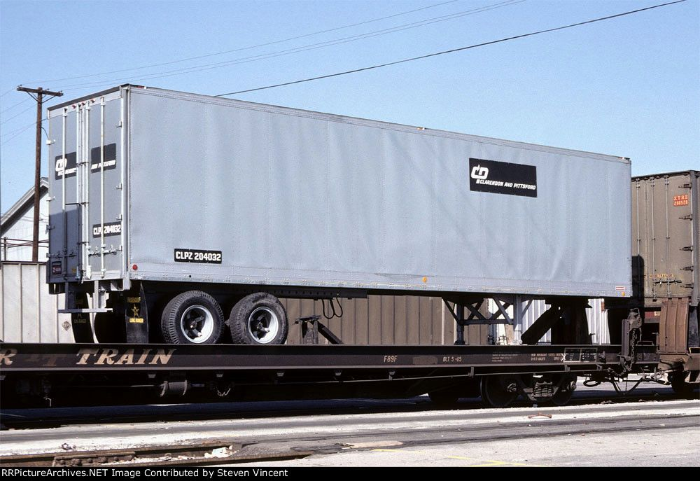 Claredon Pittsford Tofc Trailer 204032 Clpz 204032 Sign Background Is A Dark Green Date 9 11 1977 Location