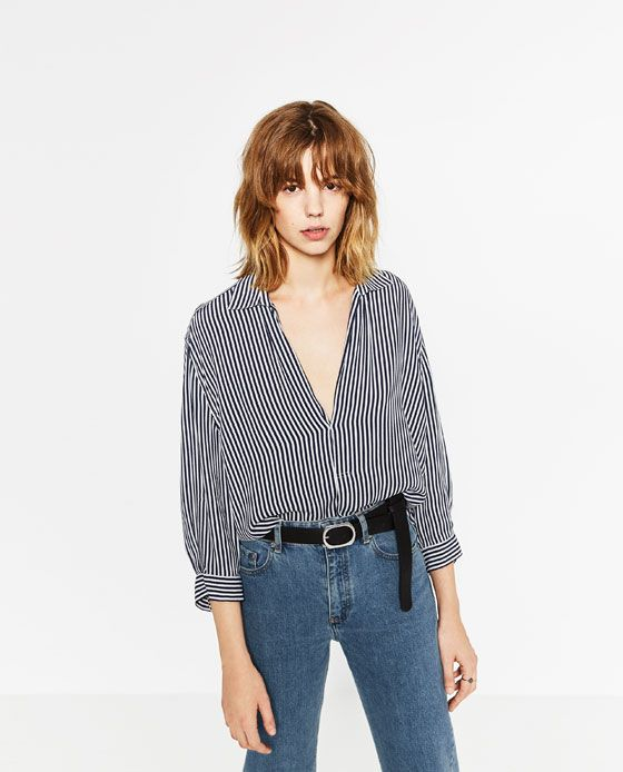Image 2 of STRIPED BLOUSE from Zara