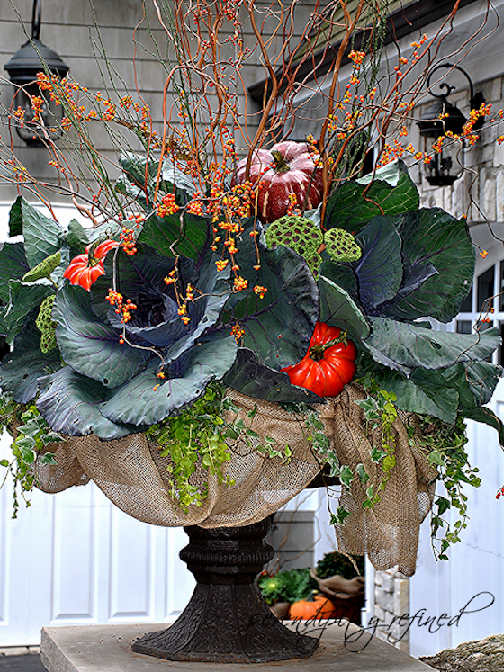 Fall Planters with Kale Fall planters, Fall