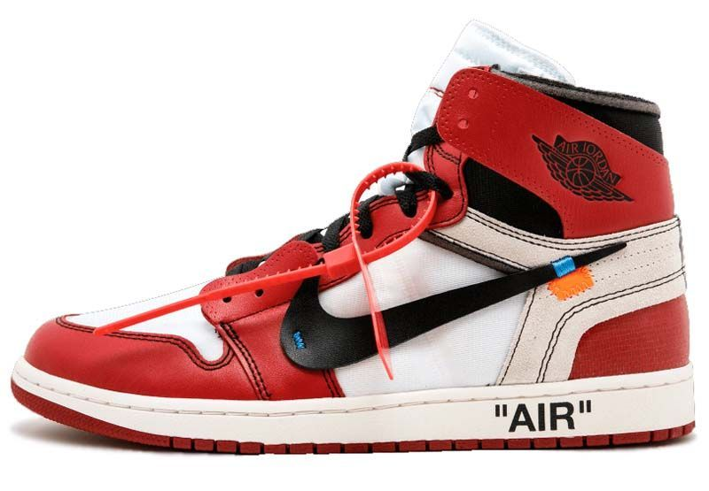 c811a11c0f7409 NIKE x Virgil Abloh (OFF-WHITE) AIR JORDAN 1 RETRO HIGH OG The Ten  WHITE    BLACK   VARSITY RED  aa3834-101