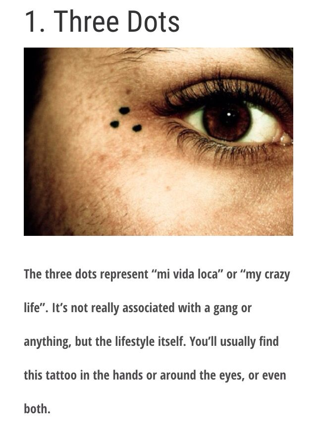 three dot tattoo isn t gang sign actually means my crazy life