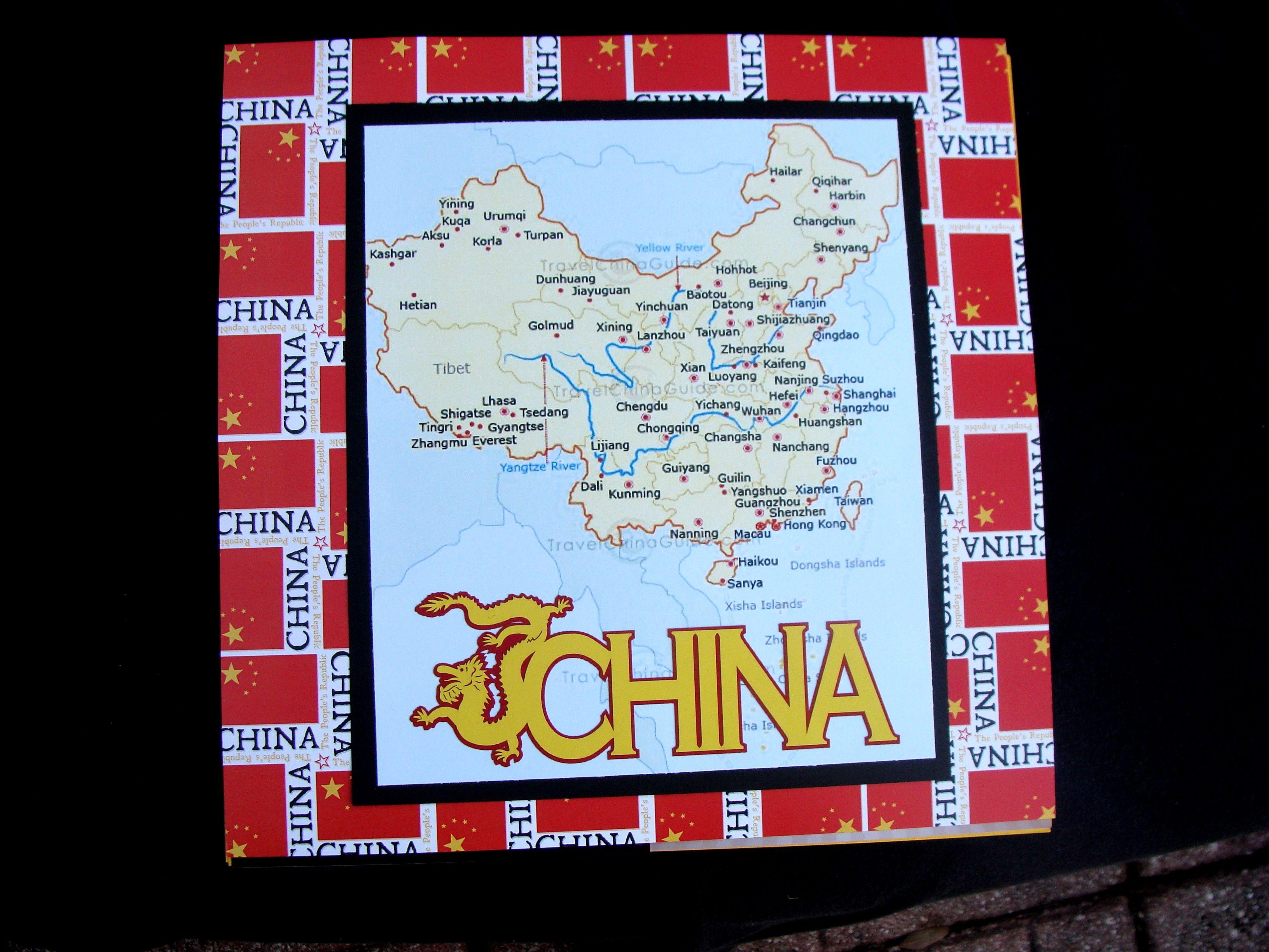 Scrapbook ideas china - China Map Scrapbook Com
