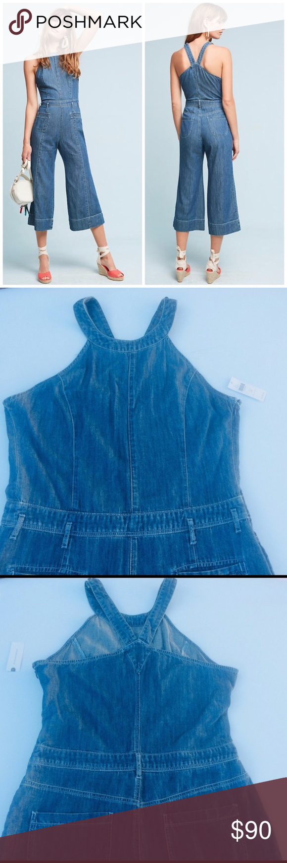 a71e0aa2afe NWT Pilcro for Anthropologie Femme Denim Jumpsuit Pilcro and the  letterpress for Anthropologie Femme Denim Jumpsuit