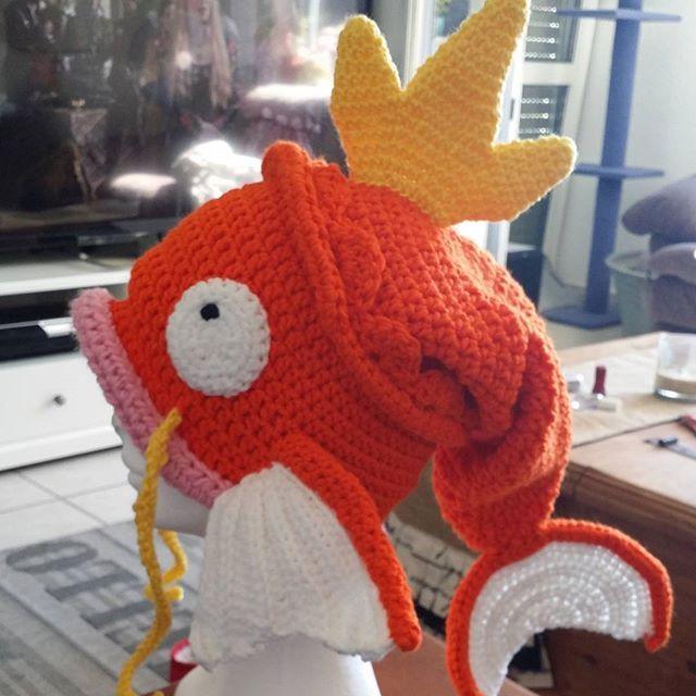 pokemon #crochet #hat #magikarp | MITOS | Pinterest | Gorros, Gorros ...
