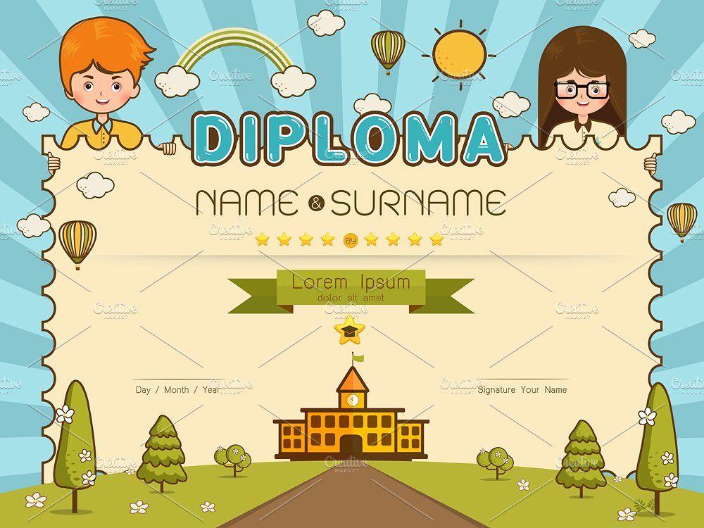 Certificate kids diploma | Kids, Elementary schools ...
