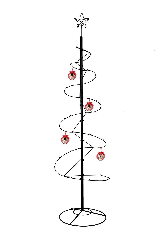 HOHIYA Metal Ornament Display Tree Stand Christmas