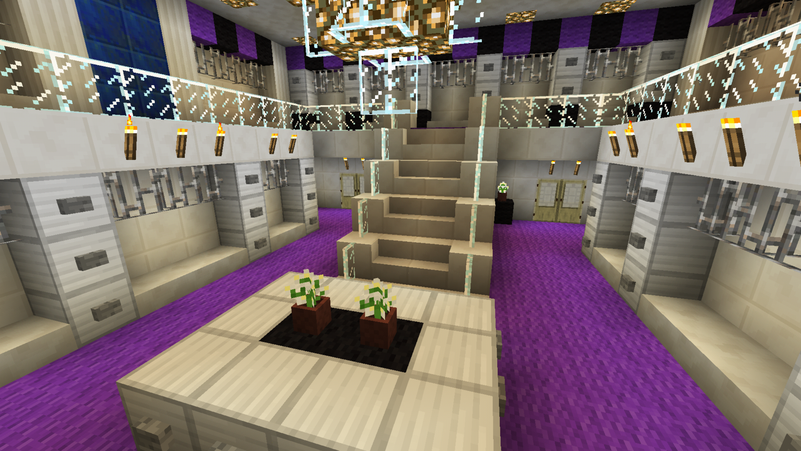 Large Closet minecraft large closet walk in purple chandelier two story