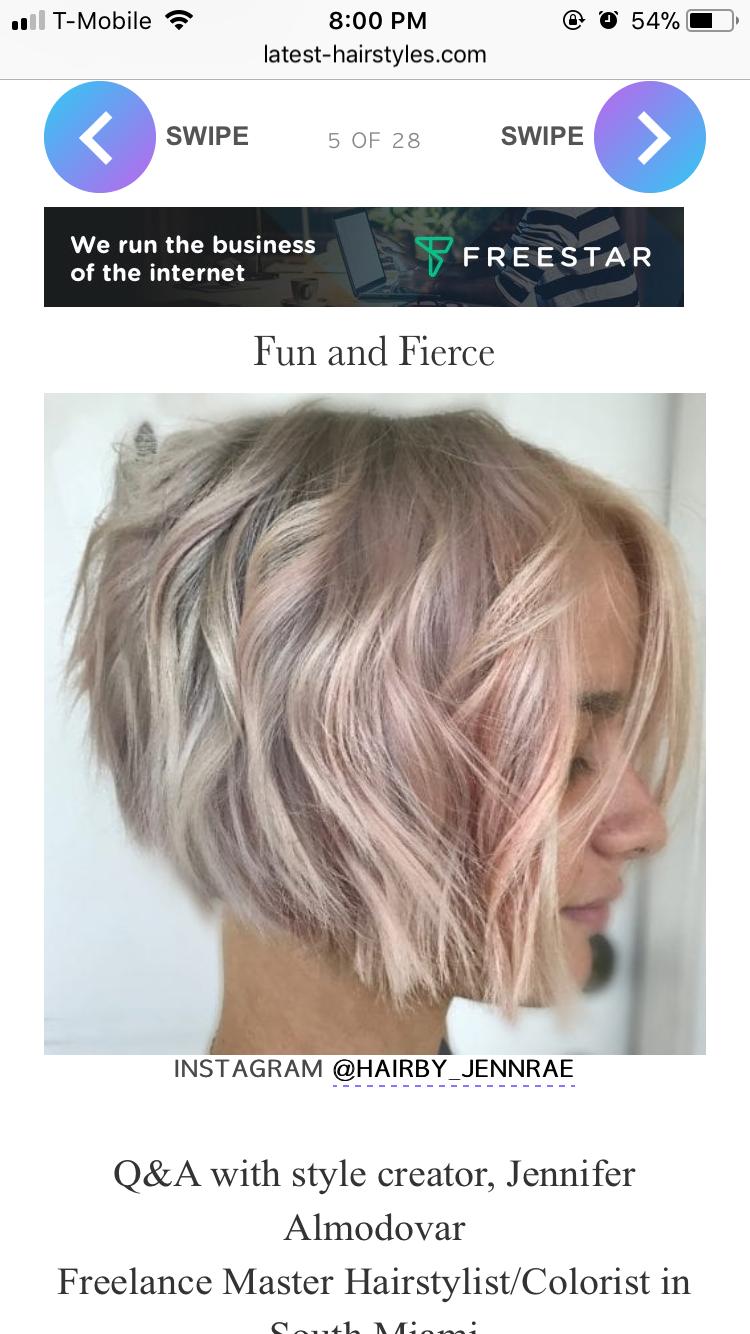 Pin Oleh Samantha Vitela Di Short Haircuts