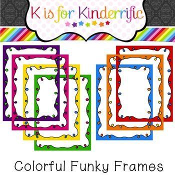 Fun and Funky Frames Freebie   Clip Art   Frame, Free
