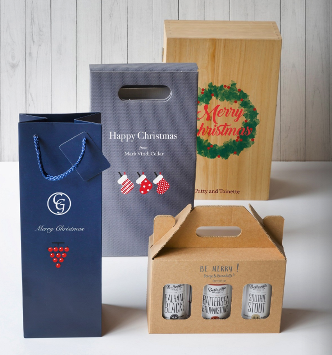 d4df87df5e Brand plan stock products with your company logo, or overprint with a  seasonal message. It's a great way to get your brand out there this  Christmas!