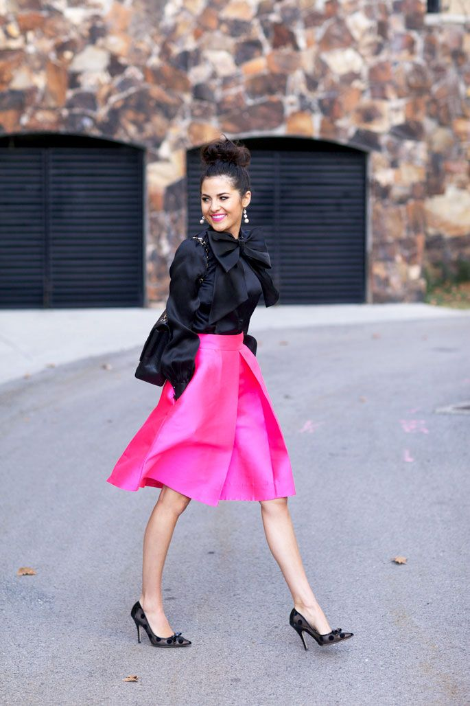 kate-spade-hot-pink-a-line-skirt.jpg (685×1028) | Beautiful ...