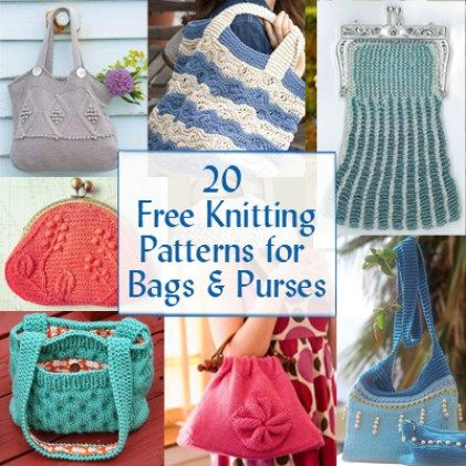 Bag Purse And Tote Free Knitting Patterns Knitting Patterns
