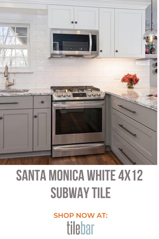 - Santa Monica White 4x12 Subway Tile Subway Tile, Small Kitchen