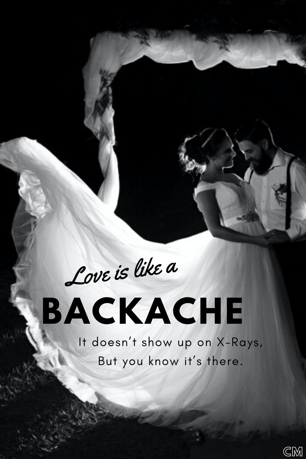 Inject a bit of humour into your vows or speech. Here's a