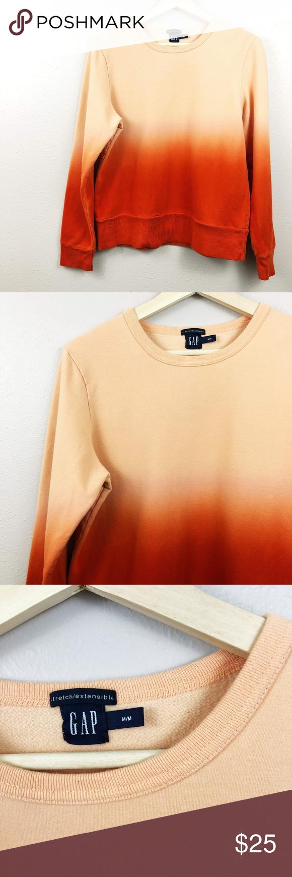 Gap Peach Sorbet Ombre Crewneck Sweatshirt Pullover Styling Crew Neck Sweatshirt Sweatshirts [ 1740 x 580 Pixel ]