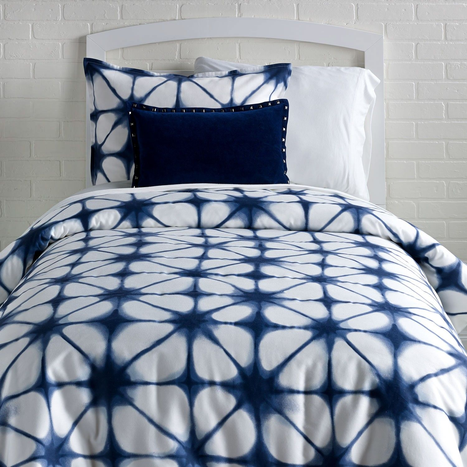 be2a943ad149 Which Bed Sheets Are The Best Refferal  6718681145. Indigo Tie Dye Duvet  Cover and Sham Set