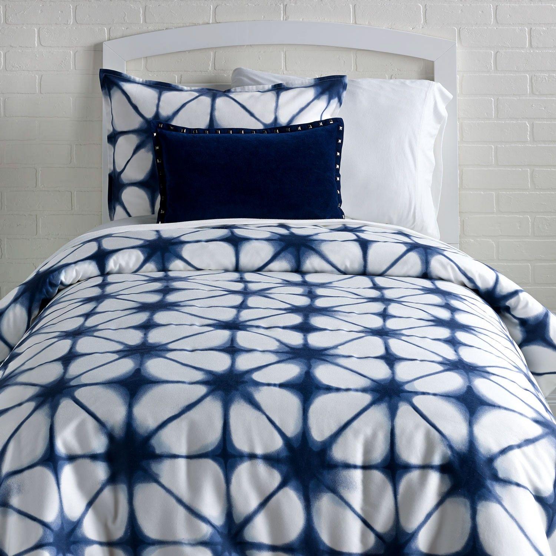 Indigo Tie Dye Duvet Cover and Sham Set Tie dye bedding