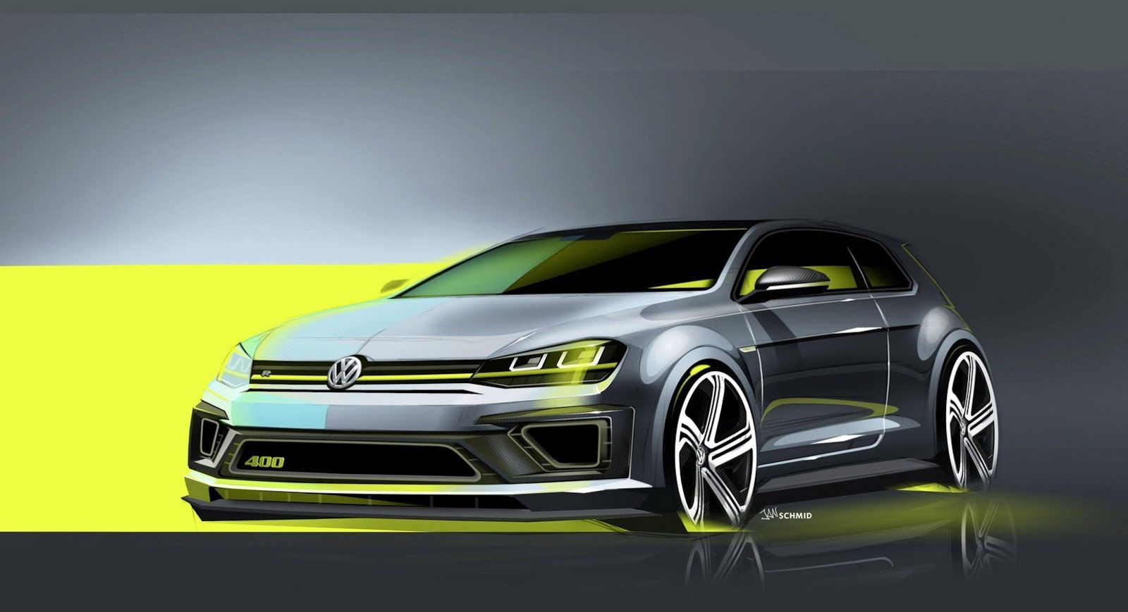 Vw S Super Golf R Concept Has 400 Horses And Goes Up To 175mph Or 282km H Carscoops Volkswagen Golf Volkswagen Golf R Volkswagen